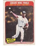 1965 Topps Bob Gibson World Series - $12.00
