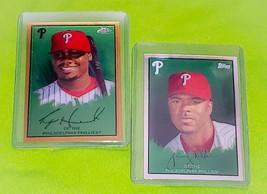 MLB RYAN HOWARD JIMMY ROLLINS PHILADELPHIA PHILLIES 2008 TOPPS CHROME 2 ... - $1.58