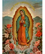 VIRGEN DE GUADALUPE VIRGIN MARY POSTER 8.5 X 11 INCH Catholic,acts,saints, - $19.94
