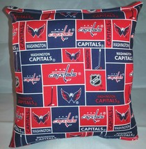 Capitals NHL Pillow Washington Capitals Pillow Handmade In USA - $9.97