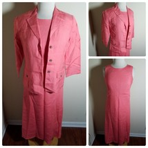 Talbots Petites Women's Dress Set Linen Blend Pink Sleeveless Maxi & Jacket 4 image 1