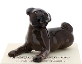 Hagen-Renaker Miniature Ceramic Dog Figurine Pug Black Baby Pup
