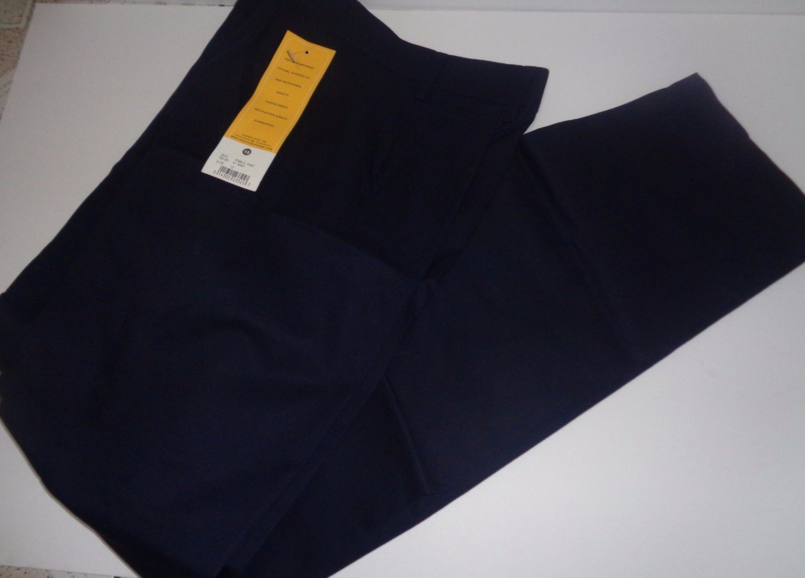 Barco Ladie's Uniform Pants Navy Blue SZ 12 NWT Pleated Front