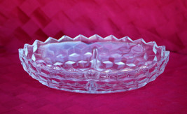 """Old Vintage Colony Whitehall Stacked Cubed 10"""" Divided Oval Vegetable Bo... - $14.84"""