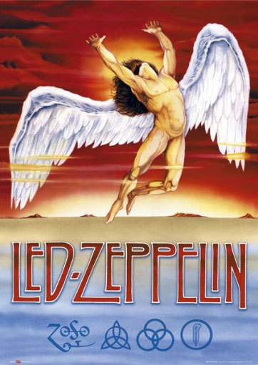 Led zeppelin 24 x 36 inches symbols poster