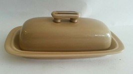 Mid Century Ginger Hand Decorated Stoneware Butter Dish Made in Japan - $26.47