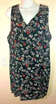 Old Navy Womens XXL Sleeveless Black Floral Shift Dress - $16.30