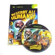 Destroy All Humans (Microsoft Xbox, 2005) Disc and Manual Only  - $10.12