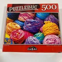 """PUZZLEBUG CraZart 18.25"""" X 11"""" Puzzle 500 Piece COLORFUL YARN - $13.05"""