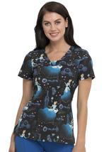 Cinderella Cherokee Tooniforms Disney V Neck Scrub Top TF641 PRSO - $34.97