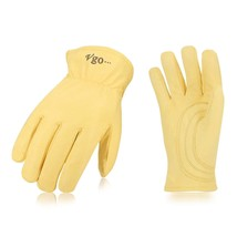 Vgo Unlined Top Grain Goatskin Work and Driver Gloves(1Pair,Size L,Light... - $10.07