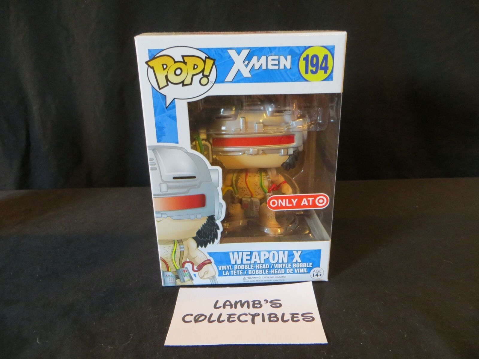 Primary image for Funko Pop! Weapon X Target exclusive X-men wolverine #194 vinyl bobble head fig