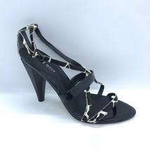 Nine West Heels Women Size 6.5 Giraffe Black Open Toe  - $30.00