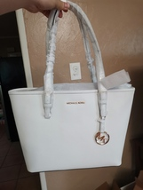 NWT MICHAEL KORS Jet Set Travel MD CARRYALL tote leather - $84.99