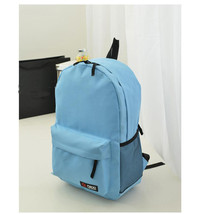 Simple Korean Style Solid Candy Color Canvas Women Backpack For Girls College St - $32.63