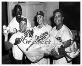 MLB Brooklyn Dodgers Robinson Reese Campanella & Snider 8 X 10 Photo Picture - $5.99