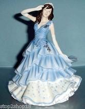 Royal Doulton Joanne Pretty Ladies Figurine HN5562 in Blue Dress New - $175.90