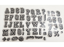 Uppercase Varsity Style Alphabet Clear Stamp Set
