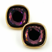 Vintage Swarovski Earrings with 3/4 Inch Faceted Crystals and Lots of Sp... - $74.00