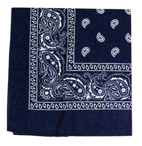 "6 Pack Paisley Cotton Head Wrap Western Scarf Face Cover Bandana Navy 22"" X 22"" image 3"