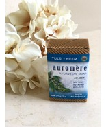 BRAND NEW by Auromere Ayurvedic Bar Soap with Organic Neem Tulsi Vegan N... - $5.93