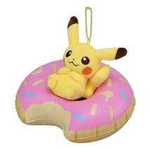 Pokemon Center Original Mascot Donut Pikachu of a Floating Ring - $39.27