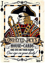 One Eyed Jack's Metal Sign - $9.95