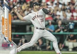 2020 Topps Update Series Justin Verlander #U-194 Astros Tigers Active All-Star - $1.19