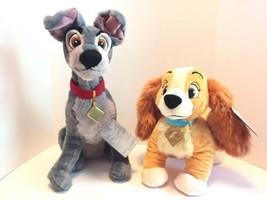 Disney Store Lady & the Tramp Plush Stuffed Animals Toy Dolls Dogs Puppy... - $49.54