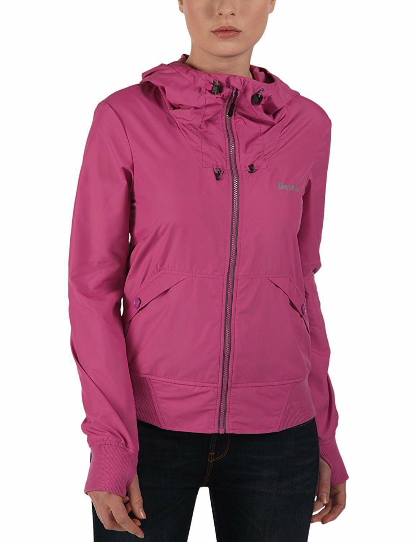 Bench Onetimer II Hoody Packable Jacket Adjustable Drawstring Pink BLKA1910 NWT