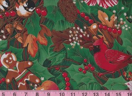 BTY Xmas SUGAR & SPICE 100% Cotton Quilt Craft Concord House Fabric by Yard - $10.00