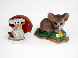 LEFTON Mice Mouse Figurines Umbrella Mouse Spring Flowers Mouse Lot of 2... - $15.00