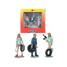 Michelle, Meg and Gary Tire Brigade 3 piece Figurine Set 1/24 by Motorhe... - $38.64