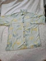Tommy Bahama Silk Large Mens Short Sleeve Hawaiian Shirt - $17.03