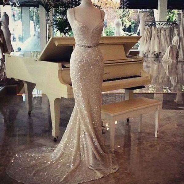 Charming Prom Dresses,Sparkle Prom Dress,Mermaid Prom Dress,Evening dresses