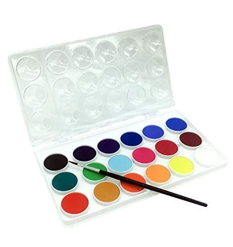 Morning Glory Solid Water Color Paints Palette 18 Colors