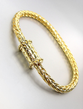 CLASSIC 18kt Gold Plated BALINESE Kali Dots Magnetic Clasp Cable Chain B... - €17,83 EUR