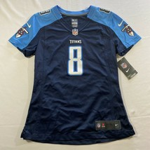 Nike Tennessee Titans Marcus Mariota Game Jersey Women's Size S Navy NFL #8 - $29.66