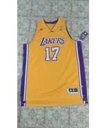 New Adidas Andrew Bynum Swingman # 17 Los Angeles Lakers Yellow Jersey S... - $199.95
