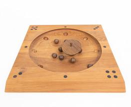 Skjode Skjern Roll-ette Vintage 1962 Tabletop Board Game Denmark Teak Wood  - $117.57