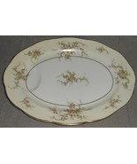 """Theodore Haviland ROSALINDE PATTERN 13 7/8"""" Oval Indented Well Platter N... - $49.49"""