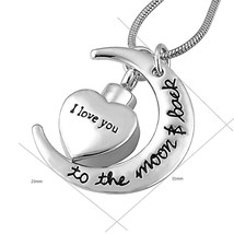 Urn I Love You to the Moon and Back Necklace for Ashes Memorial Keepsake... - $47.97