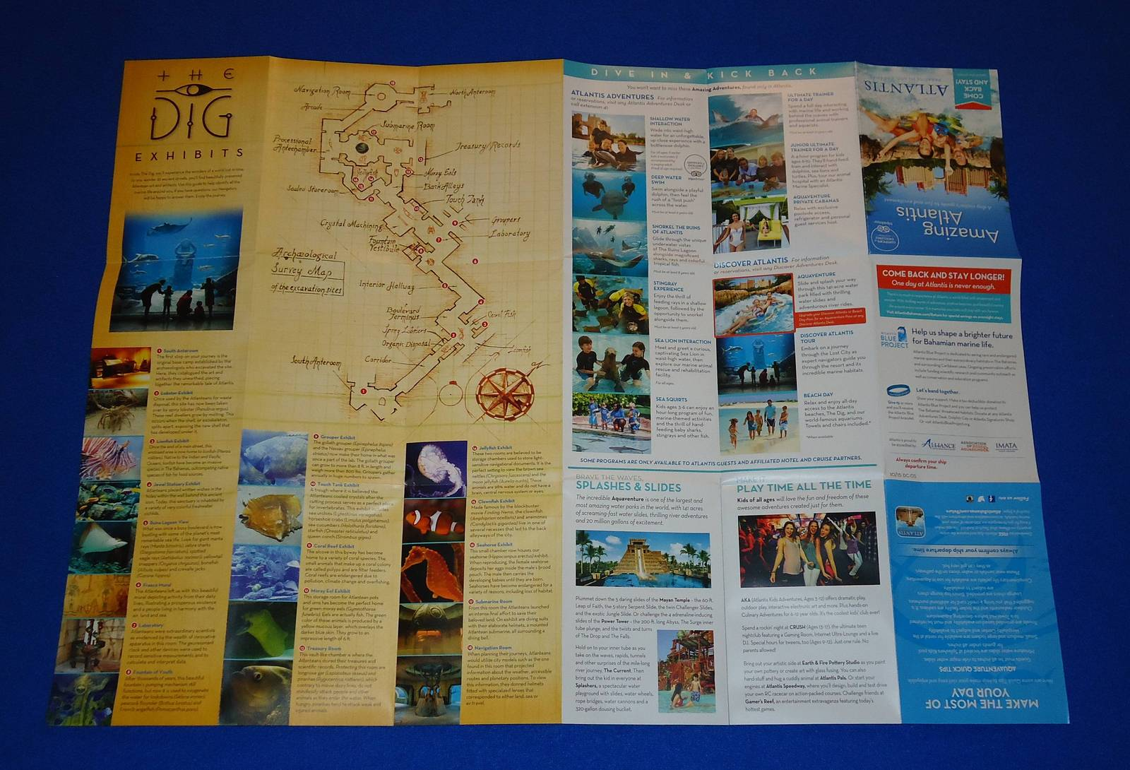 ***BRAND NEW*** ATLANTIS WATER PARK MAP BROCHURE NASSAU