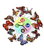 Spring Time Clock butterflies David Gerstein Wall Clocks Laser Sublimati... - $350.00