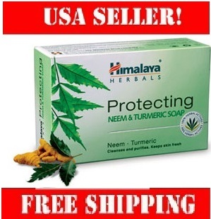 Himalaya Protecting Neem and Turmeric Soap 125g with lemon for skin protection.