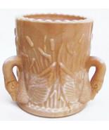 Toothpick holder chocolate slag glass three swans Westmoreland - $14.36