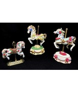 Lot of 3 Melodies County Fair Collection Heritage House Carousel Horse F... - $47.99
