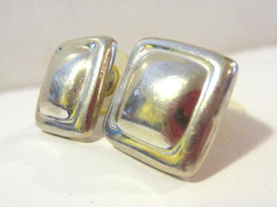 Vintage Mexico sterling silver 925 earrings