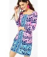 Lilly Pulitzer Bailee High Tide Navy Perfect Pair Engineered Jersey Dress - $106.20