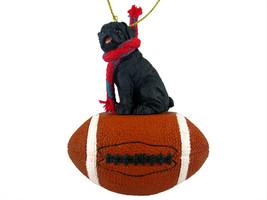 Pug Black Football Ornament - $17.99